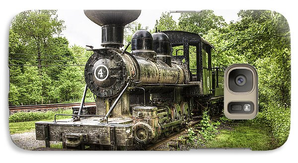 Galaxy Case featuring the photograph Argent Lumber Company Engine No. 4 - Antique Steam Locomotive by Gary Heller