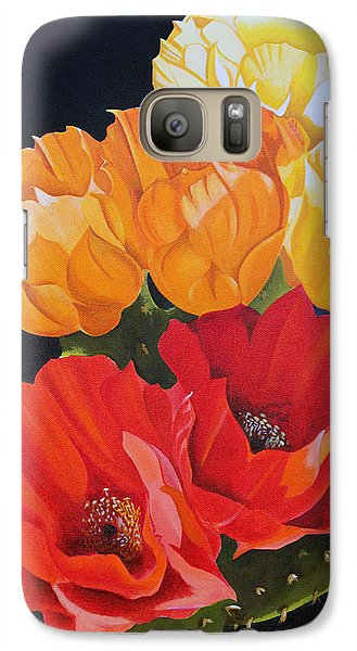 Galaxy Case featuring the painting Arizona Blossoms - Prickly Pear by Debbie Hart