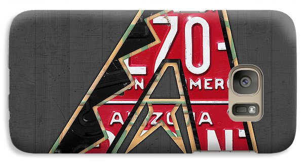 Arizona Diamondbacks Baseball Team Vintage Logo Recycled License Plate Art Galaxy S7 Case by Design Turnpike