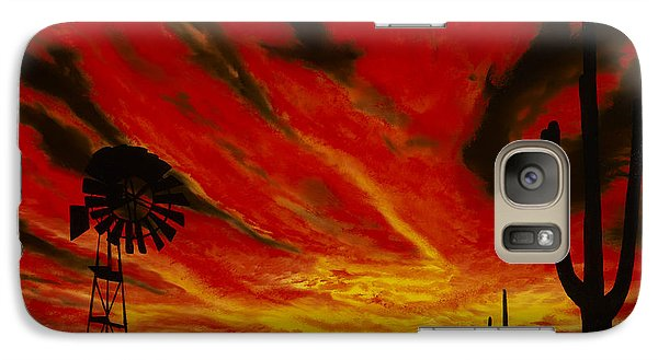 Galaxy Case featuring the painting Arizona Sunset by Stuart Engel