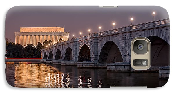 Lincoln Memorial Galaxy S7 Case - Arlington Memorial Bridge by Eduard Moldoveanu