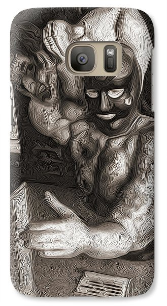 Galaxy Case featuring the digital art Arm Wrestler by Gregory Dyer