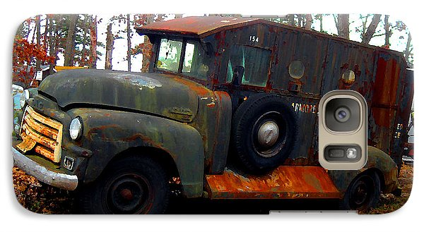 Galaxy Case featuring the digital art Armored Car Service by K Scott Teeters