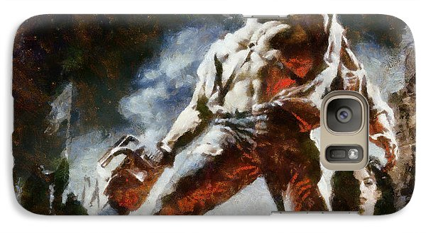 Galaxy Case featuring the painting Army Of Darkness by Joe Misrasi
