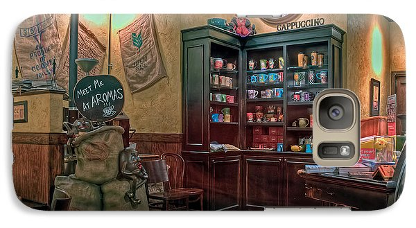 Galaxy Case featuring the photograph Aromas Coffee Shop Newport News Virginia by Jerry Gammon