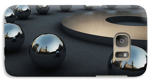 Galaxy Case featuring the digital art Around Circles by Richard Rizzo