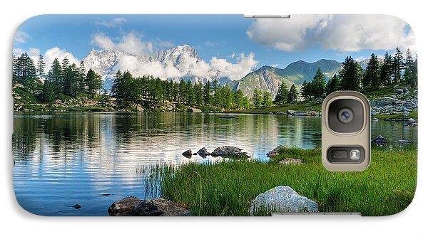 Galaxy Case featuring the photograph Arpy Lake - Aosta Valley by Antonio Scarpi