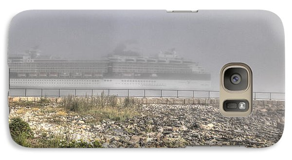 Galaxy Case featuring the photograph Arrival In The Fog by David Bishop