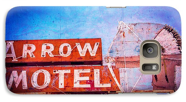 Galaxy Case featuring the photograph Arrow Motel by Steven Bateson