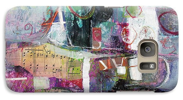 Galaxy Case featuring the painting Art And Music by Michelle Abrams