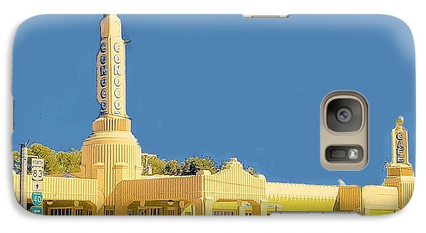 Galaxy Case featuring the photograph Art Deco Gas Station by Janette Boyd
