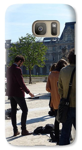 Galaxy Case featuring the photograph Art Students In The Tuileries Of Paris by Susan Alvaro