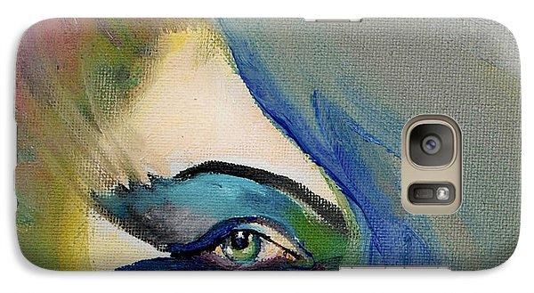 Galaxy Case featuring the painting Artful Eye Of Mine by Maja Sokolowska