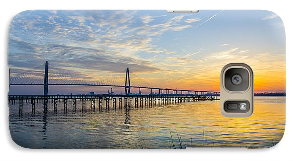 Galaxy Case featuring the photograph Calm Waters Over Charleston Sc by Dale Powell