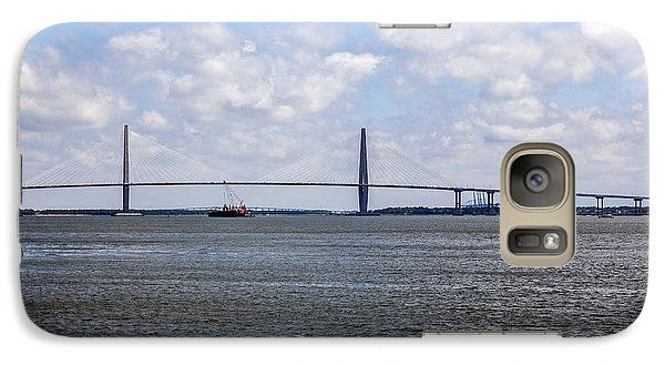Galaxy Case featuring the photograph Arthur Ravenel Bridge by Sennie Pierson