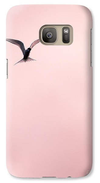 Galaxy Case featuring the photograph Artic Tern High In The Sky by Peta Thames