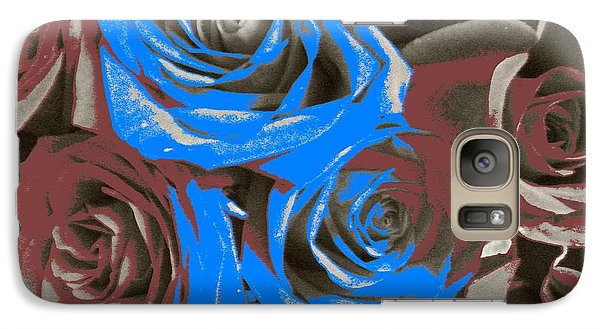 Galaxy Case featuring the photograph Artistic Roses On Your Wall by Joseph Baril