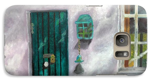 Galaxy Case featuring the painting Artist's Studio In The Meadow by Margaret Harmon