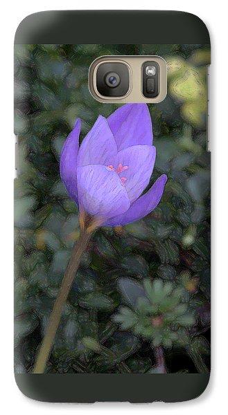 Galaxy Case featuring the photograph Purple Flower by John Freidenberg