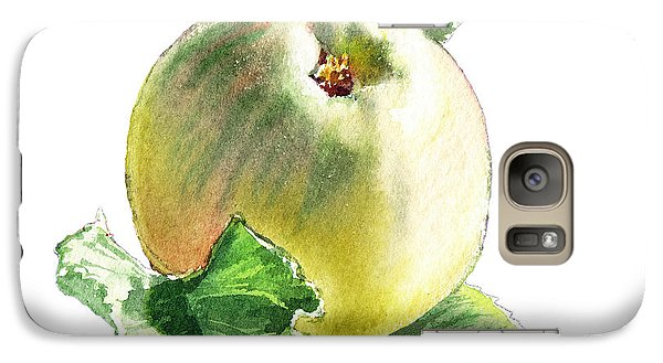 Galaxy Case featuring the painting Artz Vitamins Series A Happy Green Apple by Irina Sztukowski