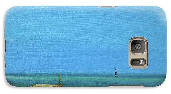 Galaxy Case featuring the painting Aruba by Donna Tuten
