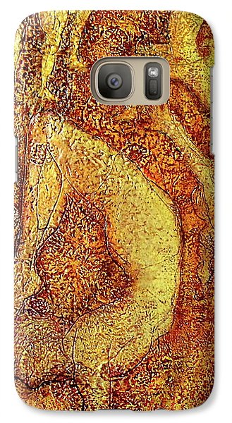 Galaxy Case featuring the painting Arunima by D Renee Wilson