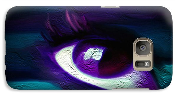 Galaxy Case featuring the painting As Far As The Eye Can See by Persephone Artworks