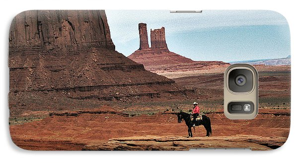 Galaxy Case featuring the photograph As Far As The Eye Can See by Sylvia Thornton