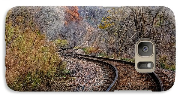 Galaxy Case featuring the photograph As I Walk The Tracks I Think by Kelly Marquardt