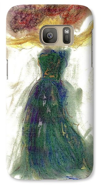 Galaxy Case featuring the painting as if Dancing in Heaven by Lesley Fletcher