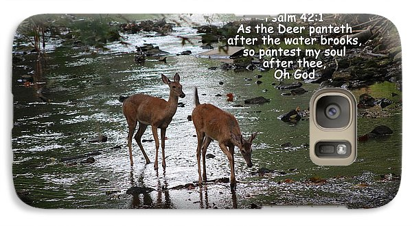 Galaxy Case featuring the photograph As The Deer Pants For Water by Lorna Rogers Photography