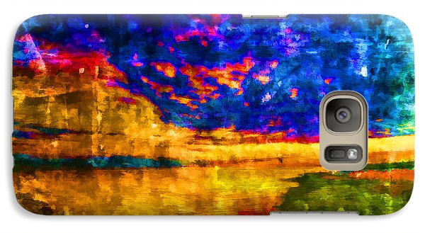 Galaxy Case featuring the painting As The World Ends by Joe Misrasi