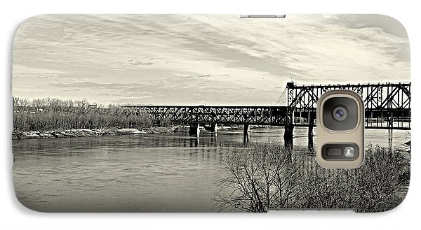 Galaxy Case featuring the photograph Asb Bridge Over The Missouri River by Karen Kersey