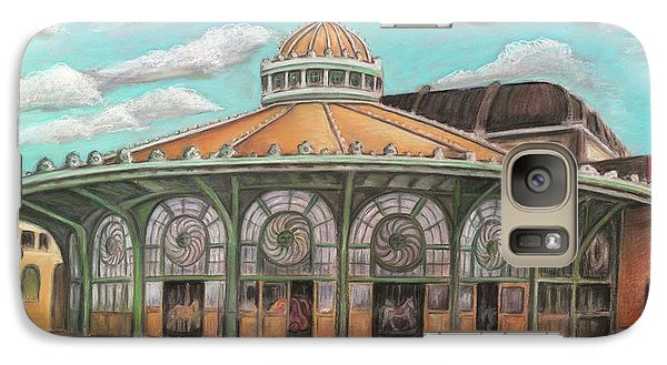 Galaxy Case featuring the painting Asbury Park Carousel House by Melinda Saminski