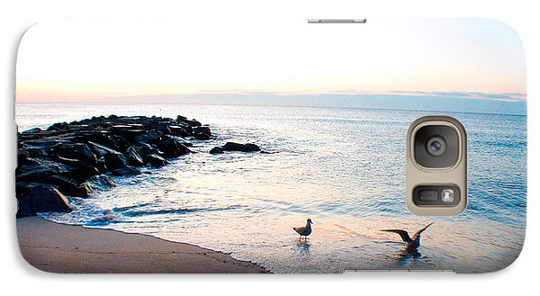 Galaxy Case featuring the photograph Asbury Seagulls by Jon Emery