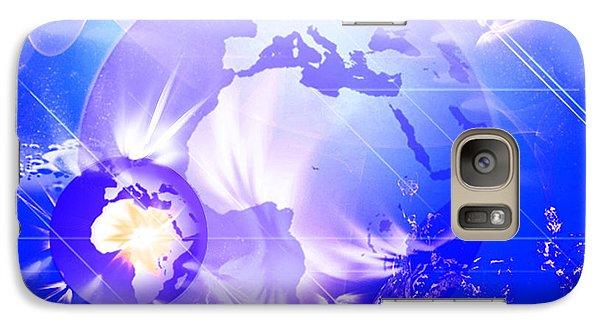 Galaxy Case featuring the digital art Ascending Gaia by Ute Posegga-Rudel