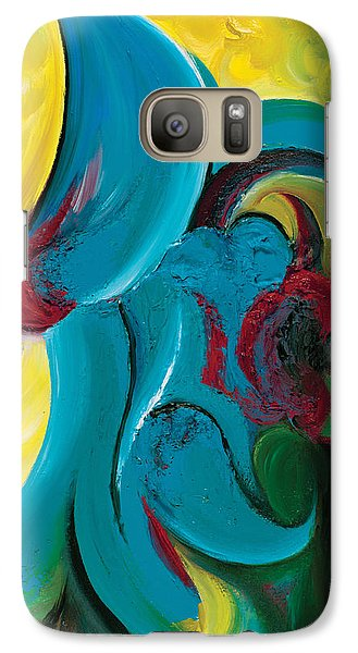 Galaxy Case featuring the painting Ascension by Tiffany Davis-Rustam
