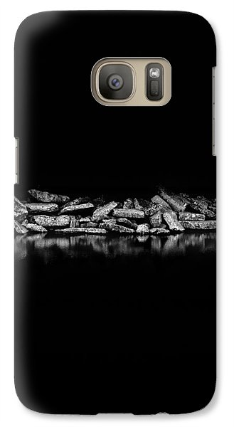 Galaxy Case featuring the photograph Ashbridges Bay Toronto Canada Breakwall 1 by Brian Carson