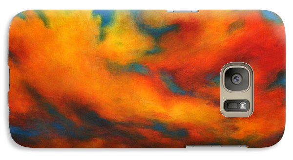 Galaxy Case featuring the painting Ashes Within by Alison Caltrider