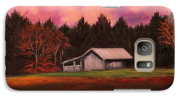 Galaxy Case featuring the painting Asheville Barn by Janet Greer Sammons