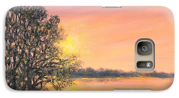 Galaxy Case featuring the painting Ashore At Dusk 2 by Kathleen McDermott