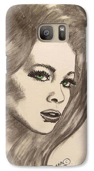 Galaxy Case featuring the drawing Ashton by Marianne NANA Betts