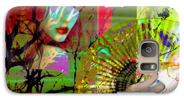 Galaxy Case featuring the digital art Asian Beauty by Diana Riukas