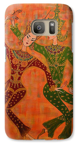 Galaxy Case featuring the painting Asian Dancers by Marie Schwarzer
