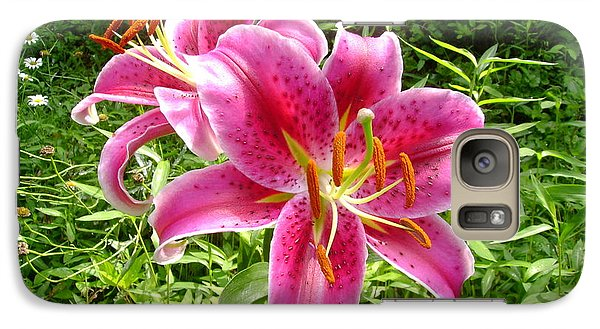 Galaxy Case featuring the painting Asiatic Lily  by Donna Dixon