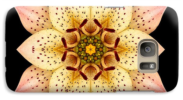 Galaxy Case featuring the photograph Asiatic Lily Flower Mandala by David J Bookbinder