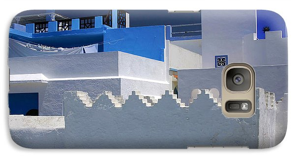 Galaxy Case featuring the photograph Asilah Meaning Authentic In Arabic Fortified Town On Northwest Tip Of Atlantic Coast Of Morocco by Ralph A  Ledergerber-Photography