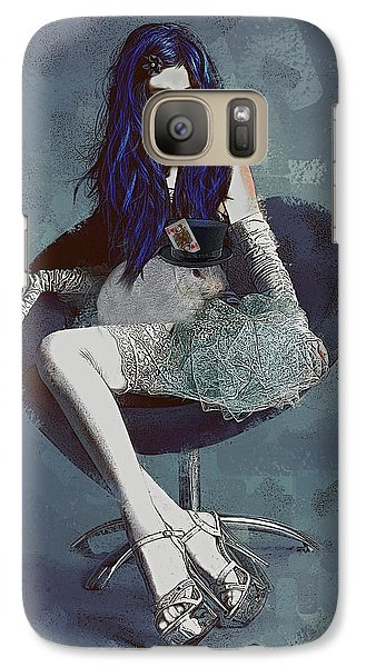 Galaxy Case featuring the digital art Ask Alice by Galen Valle