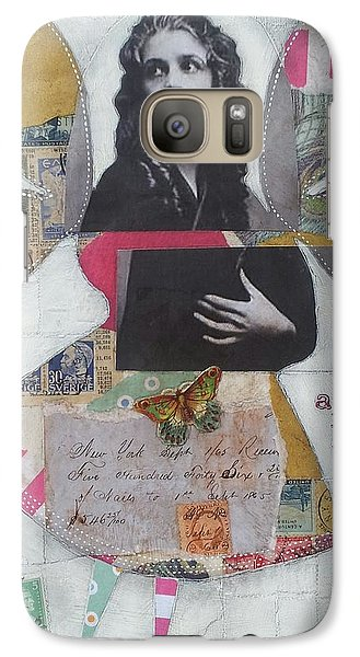 Galaxy Case featuring the painting Ask Me by Casey Rasmussen White