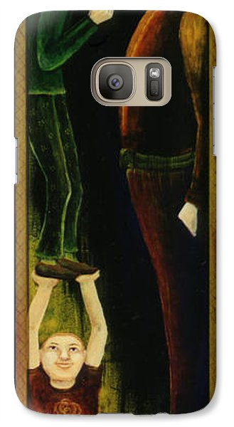 Galaxy Case featuring the painting Asking For A Raise. by Anna Skaradzinska